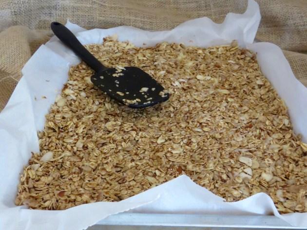 Granola Pressed Into Pan