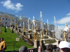 Fountains at Peterhof, outside St. Petersburg