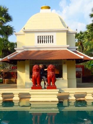 Raffles Grand Hotel d'Angkor–pool area pavilion