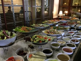 Siem Reap–hotel lunch buffet, salads