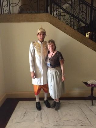 Siem Riep, Cambodia–Hotel greeter