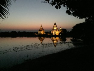 Bagan, Myanmar–Aureum Palace, Pagodas At Twilight
