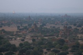 Bagan, Myanmar–Pagodas At Sunrise With Balloons (by Ingrid Klove)