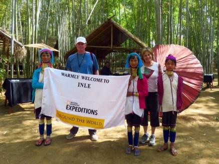 Inle Lake, Myanmar–Kayan Women Welcome Us