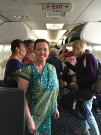 Leaving India Crew In Saris1