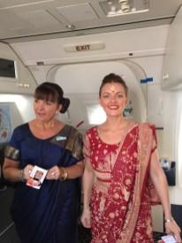 Leaving India Crew In Saris2
