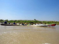 Myanmar–Inle Lake–children Returning From Schoo