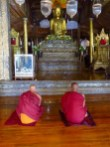 Myanmar–Nga Phe Chaung Monastery–Seated Monks