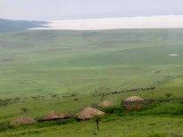 Tanzania–Masai Huts At Ngorongoro Crater