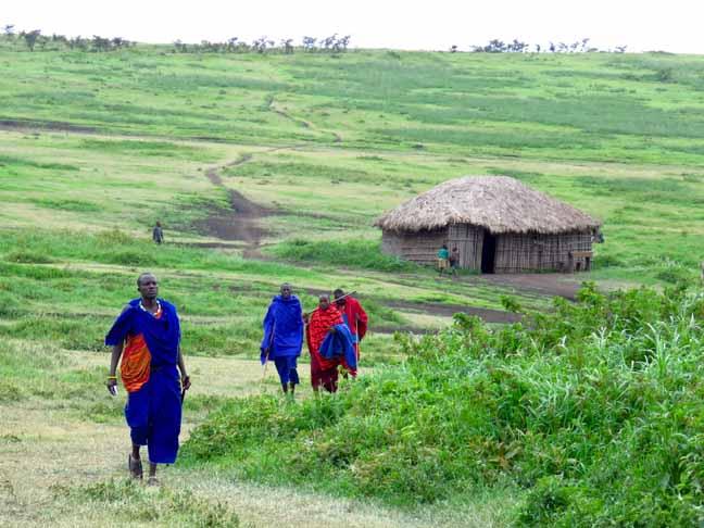 Tanzania Ngorongoro Crater Masai Village