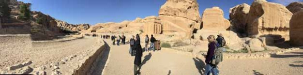 Entrance To Petra Panorama