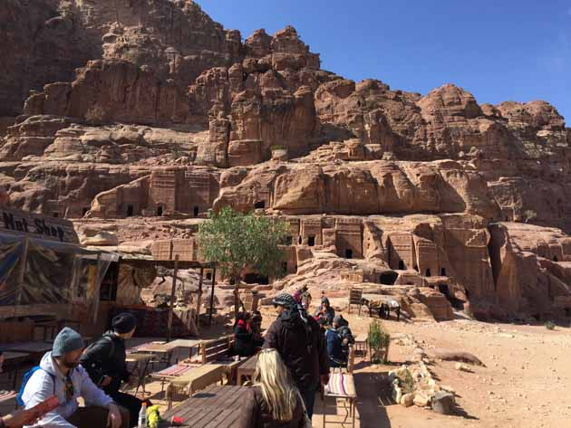 Petra–Tombs On Street Of Facades