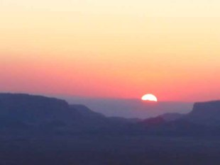 Sunset Over Wadi Rum, Jordan