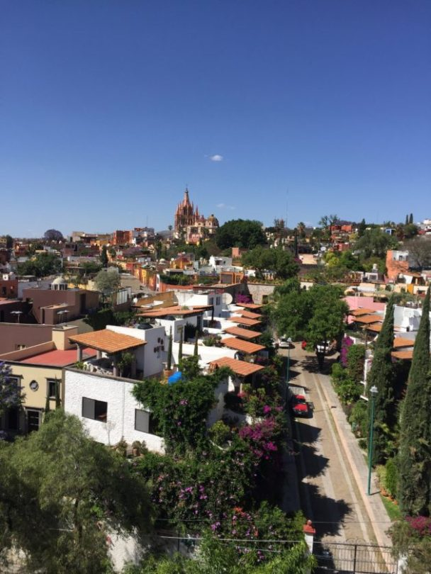 View from Luna Bar, Rosewood Hotel, San Miguel de Allende