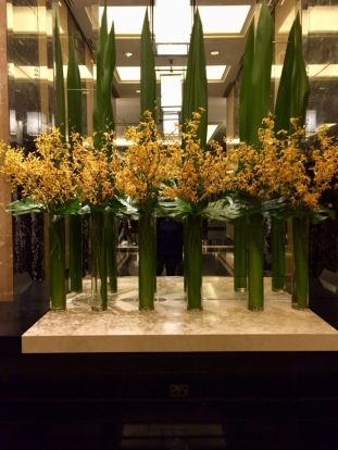 Floral arrangements, Crown Towers, Melbourne