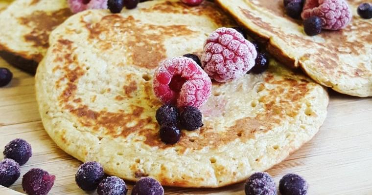 Pancakes à la banane & flocons d'avoine