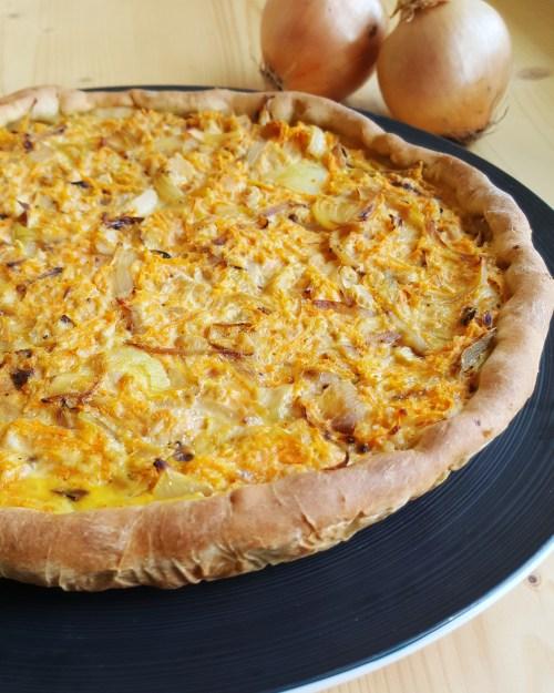 Quiche la carotte oignon thon et cumin cuisine ta ligne for Cuisine de quiches originales et gourmandes