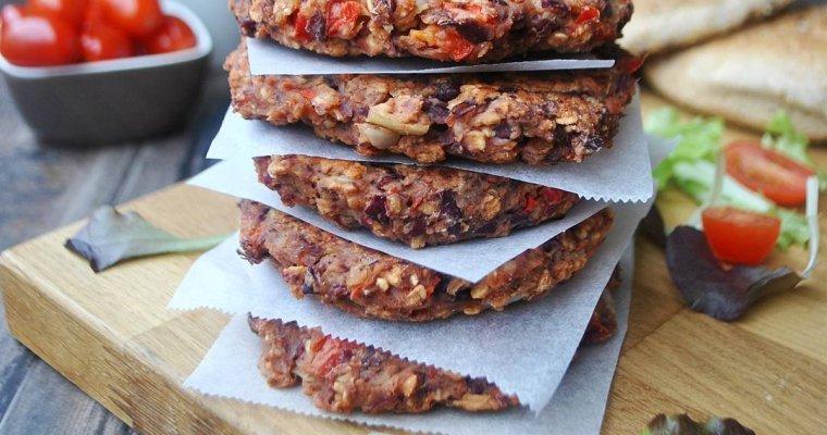 Galettes chili aux haricots rouges et aux poivrons (vegan)