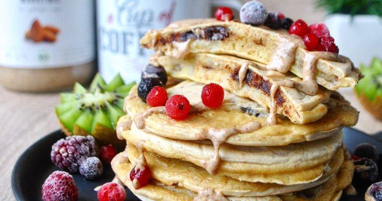 Pancakes fourrés à la banane et au chocolat noir