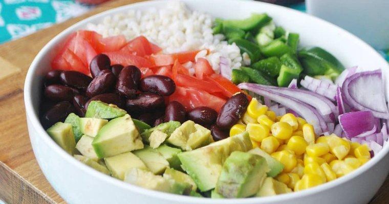 Salade de riz à la mexicaine