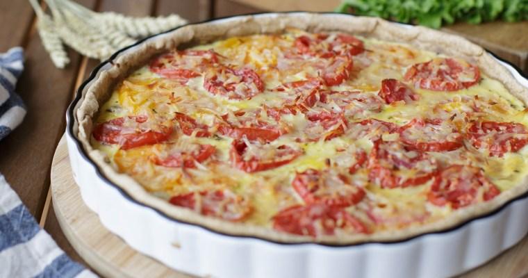 Quiche à la tomate, thon & moutarde
