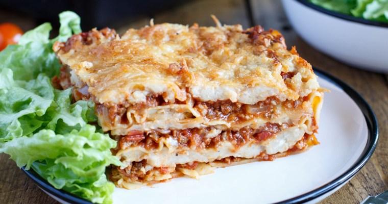 Lasagnes à la bolognaise végétariennes