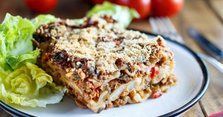 Lasagnes vegan aux légumes du soleil