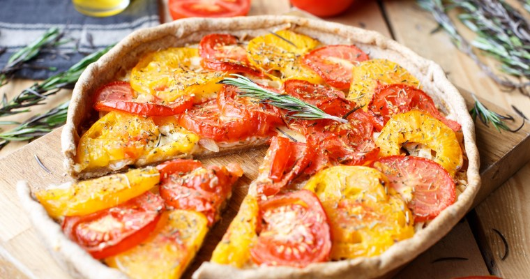 Tarte à la tomate & moutarde