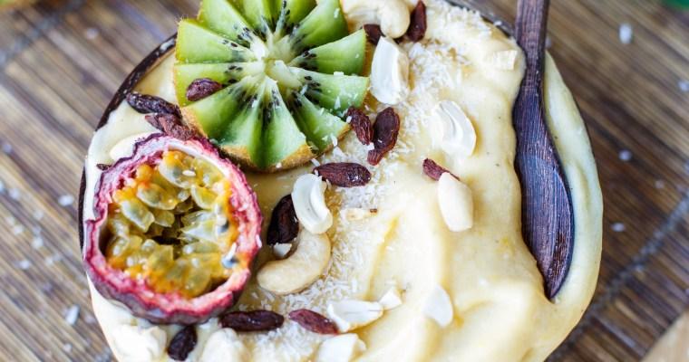 Glace à la banane (Nice cream), mangue et coco