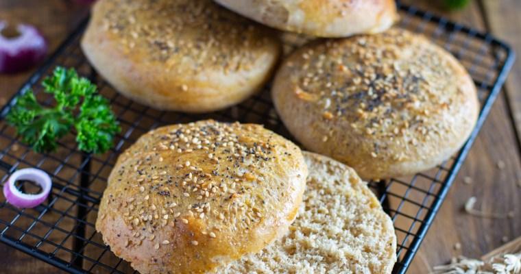 Pain à hamburger (Buns) à la farine semi-complète