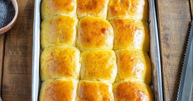 Petits pains briochés façon petits pains hawaïens