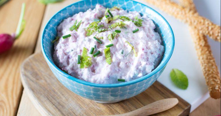 Tartinade au radis, aux herbes et au fromage frais