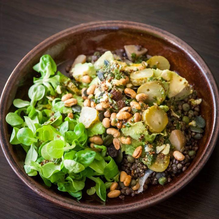 Salade ti de lentilles avocat v gane cuisine v gane pour d butant e - Cuisine pour les debutants ...