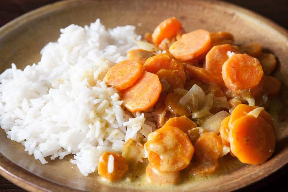 carottes au curry coco