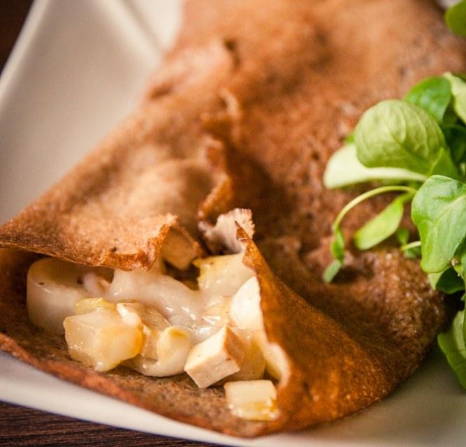 galette de sarrasin à l'endive poêlée cuisine végane pour débutant recette vegan facile