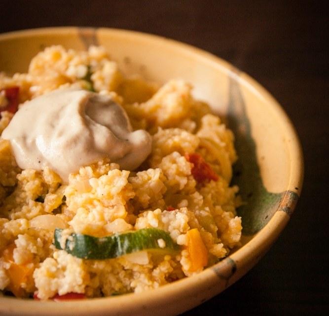 millet ail citron sauce tahiné cuisine végane pour débutant recette vegan facile