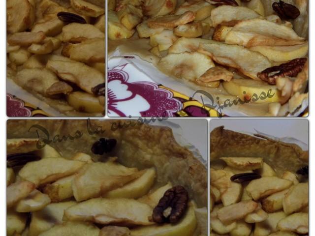 Tarte aux pommes et noix de pécan