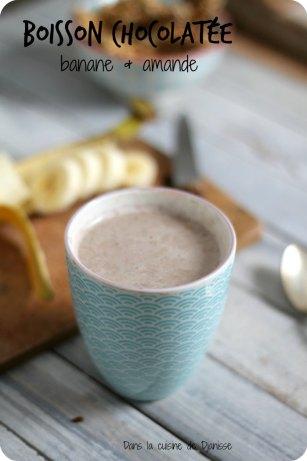 recette végétalienne boisson chocolatée à la banane et à l'amande