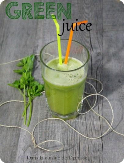 Jus vert légèrement sucré