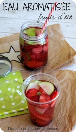 Eau aromatisée aux fruits d'été