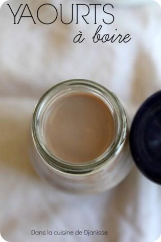 yaourts à boire au chocolat