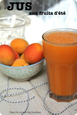 Apricots and melon juice