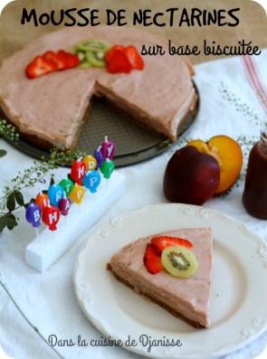 Recette vegan : mousse de nectarines sur base biscuitée