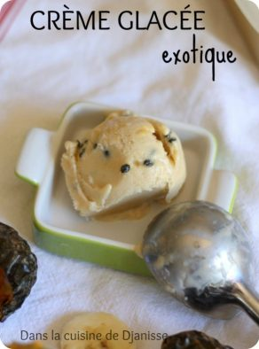 Vegan recipe : exotic ice cream (gluten free)