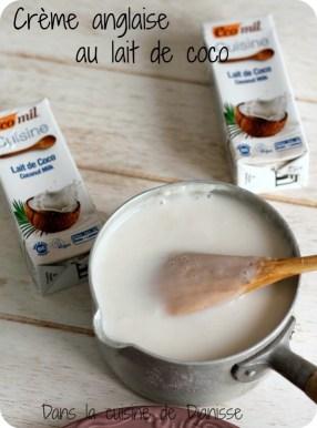 Crème anglaise à la noix de coco