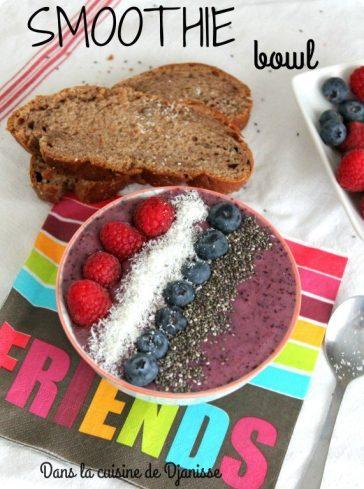 Smoothie bowl aux fruits rouges {vegan}