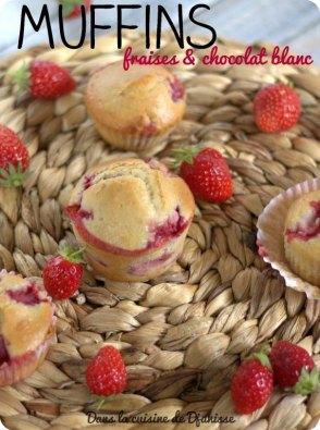 Muffins à la fraise et au chocolat blanc {vegan}