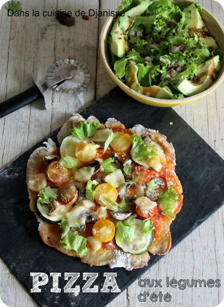 Pizza sans gluten aux légumes d'été
