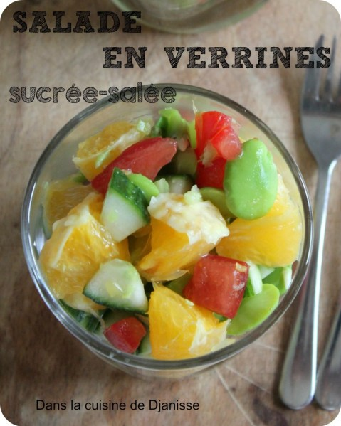 verrrines de salade sucrée salée