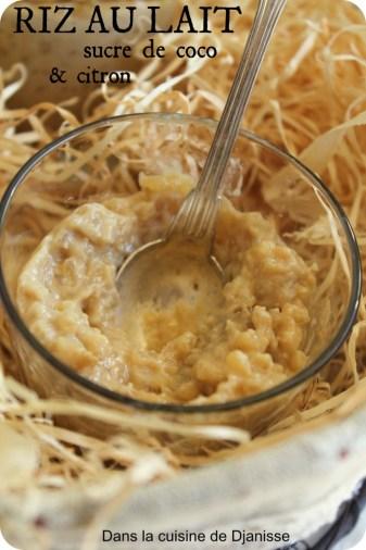 Riz au lait et sucre de coco